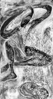 Художник Анна Пахомова.  Икэбана, или циклопическая женщина