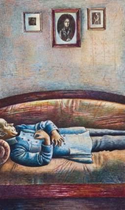 """Иллюстрация к рассказу А.П. Чехова  """"Смерть чиновника"""". О.Яхнин"""