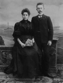 Супруги Лавровы - В.И. и С.Л. 1888 г. Ливны