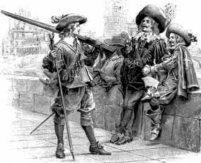 А. Дюма. «Три мушкетёра». Иллюстрация М. Лелуара