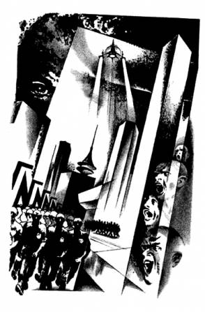 Иллюстрация к роману Е. Замятина «Мы».  О. К. Вуколов, 1989 г.