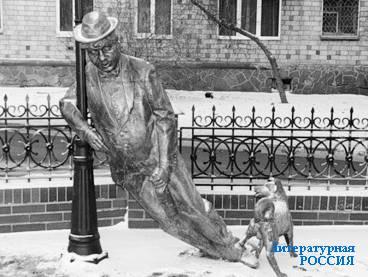 Красноярск. Памятник национальному пороку – пьянству.  Народная молва утверждает, что это памятник Сергею Есенину.