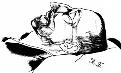 Юрий Анненков. Александр Блок в гробу