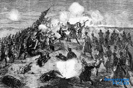 Русско-турецкая война (1877–1878). Гравюра, 1878 г.