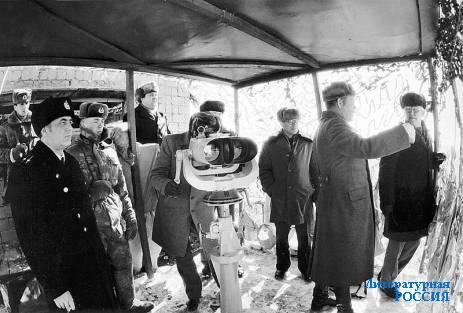 На заставе Нижне-Михайловская через 25 лет после боёв