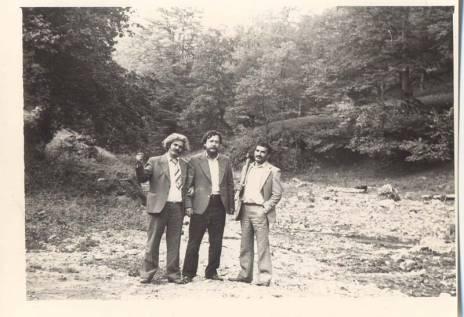 В Азербайджане.1981 год. В центре – Юрий Кузнецов; справа – Мамед Исмаил.