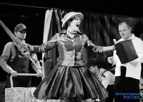 Сцена из спектакля «Дамский портной»