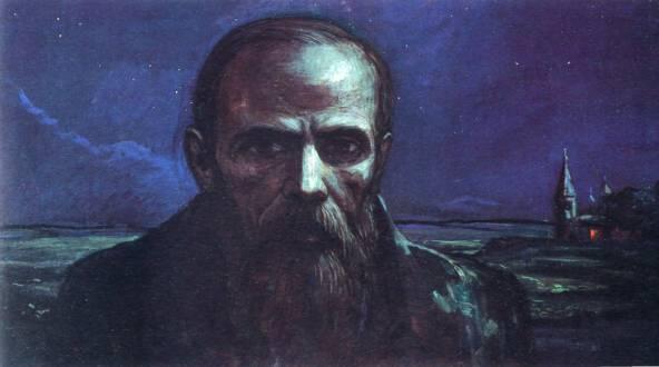 Илья Глазунов.Ф.М. Достоевский. Ночь.1986 год